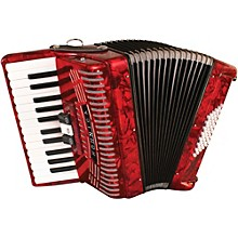 Open Box Hohner 48 Bass Entry Level Piano Accordion