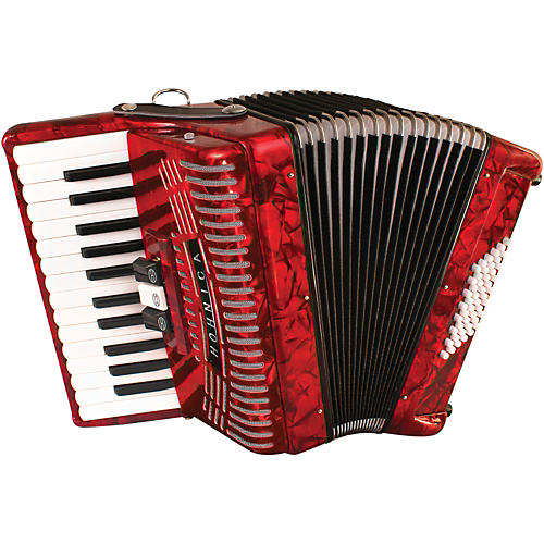 Hohner 48 Bass Entry Level Piano Accordion Condition 2 - Blemished Red 194744046513
