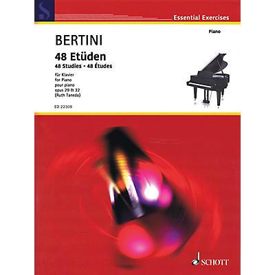 Schott 48 Studies (Op. 29 & 32) for Piano by Henri Bertini