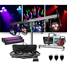 CHAUVET DJ 4BAR LT USB Wash Light System with Jam Pack Diamond and Party Effects Package