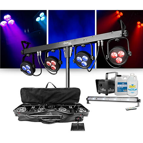 CHAUVET DJ 4Bar LT USB Wash Light System with Jam Pack Emerald Lighting Package