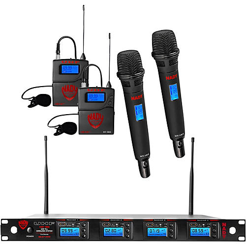 Nady 4W-1KU - Quad 1000-Channel Combo Wireless System