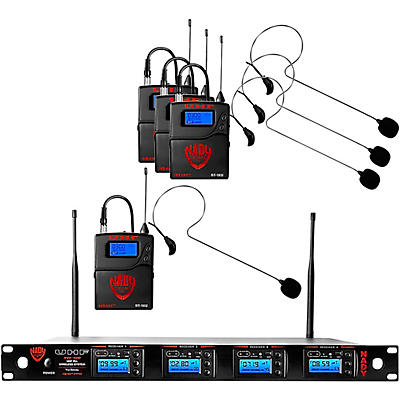 Nady 4W-1KU - Quad 1000-Channel Headset Wireless System