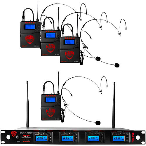 Nady 4W-1KU-HM10 Black, 1000-channel Headset Wireless System