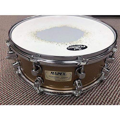 Mapex 4X14 MILLENIUM DITION SNARE Drum Metallic Gold 2