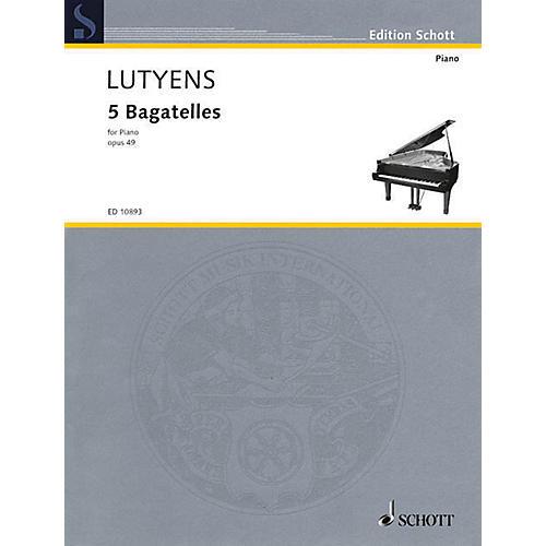 Schott 5 Bagatelles for Piano Schott Series