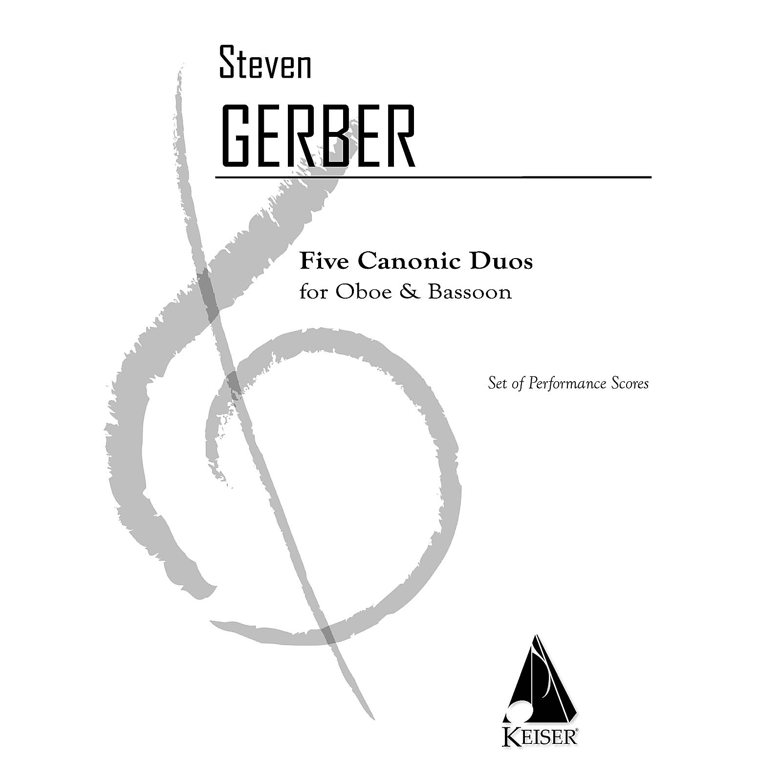 Lauren Keiser Music Publishing 5 Canonic Duos for Oboe and Bassoon LKM Music Series Composed by Steven Gerber