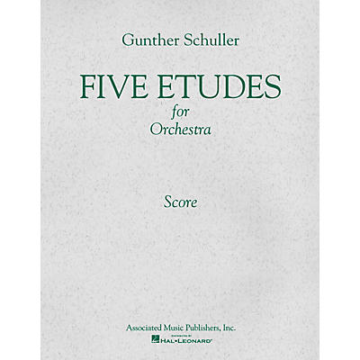 Associated 5 Etudes for Orchestra (1966) (Study Score) Study Score Series Composed by Gunther Schuller
