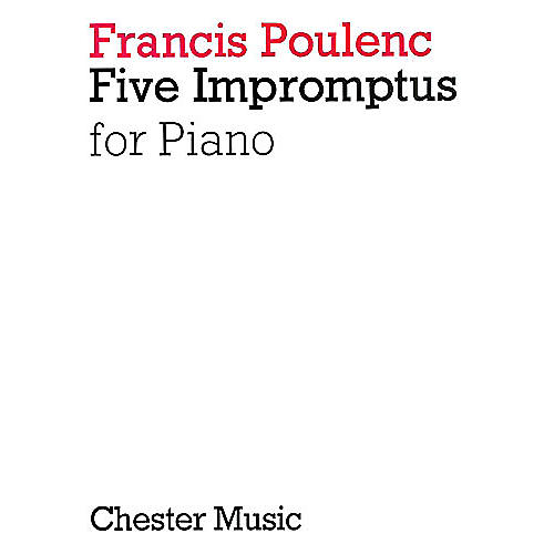 Chester Music 5 Impromptus for Piano Music Sales America Series