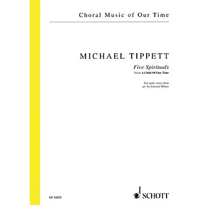 Schott 5 Negro Spirituals from A Child of Our Time TTBB A Cappella Composed by Tippett Arranged by Edward Milner