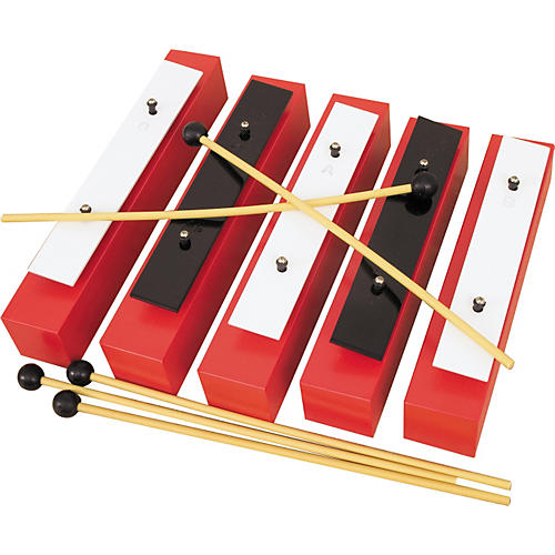 Rhythm Band 5 Note Chromatic Wooden Bass Bell Set
