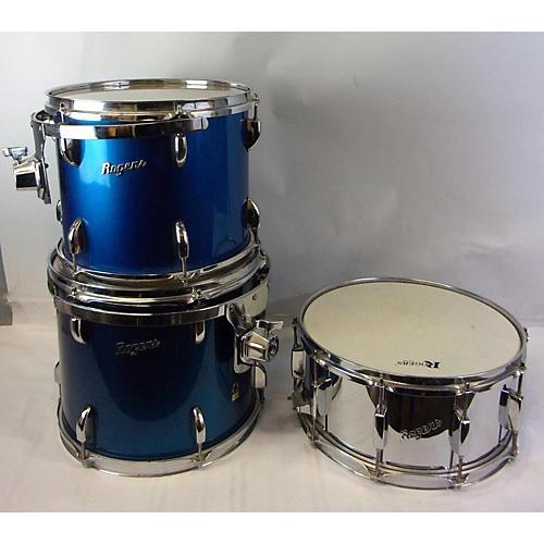 Rogers 5 PC Drum Kit Drum Kit Blue