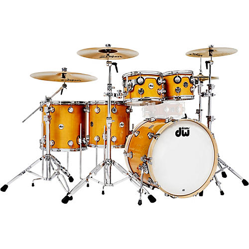DW 5-Piece Collector's Series Santa Monica Shell Pack with Chrome Hardware Butterscotch
