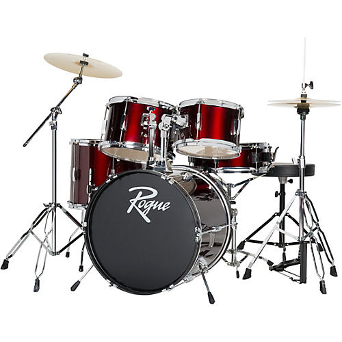 Rogue 5 Piece Complete Drum Set Wine Red Musician S Friend