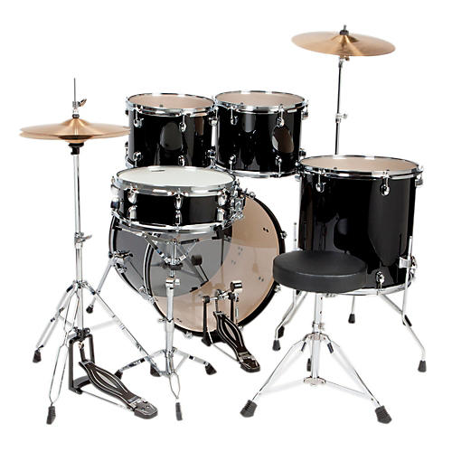 Sound Percussion Labs 5-Piece Complete Drum Set w/ Cymbals & Hardware