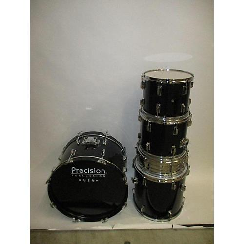 PRECISION DRUM CO 5 Piece Drum Set Drum Kit Black