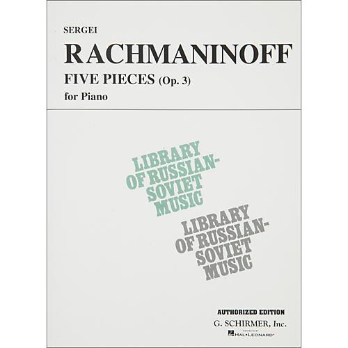 Hal Leonard 5 Pieces Op 3 for Piano Rachmaninoff By Rachmaninoff