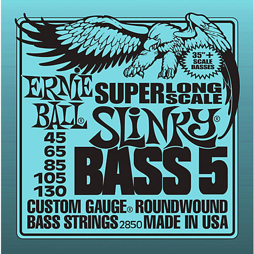 Ernie Ball 5-string Slinky Bass Strings Super Long Scale