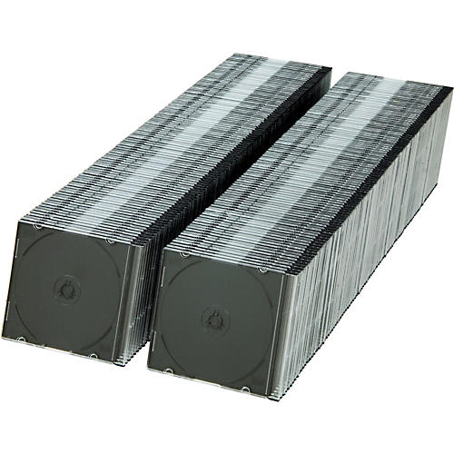 BK Media 5.2 mm Slim CD & DVD Jewel Cases 200-pack