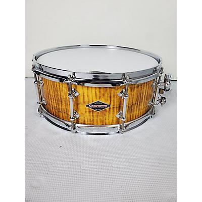 Craviotto 5.5X14 2016 NAMM Show Burnt Curly Maple Snare Drum
