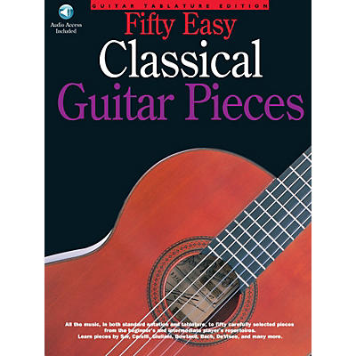 Music Sales 50 Easy Classical Guitar Pieces Music Sales America Series Softcover with CD
