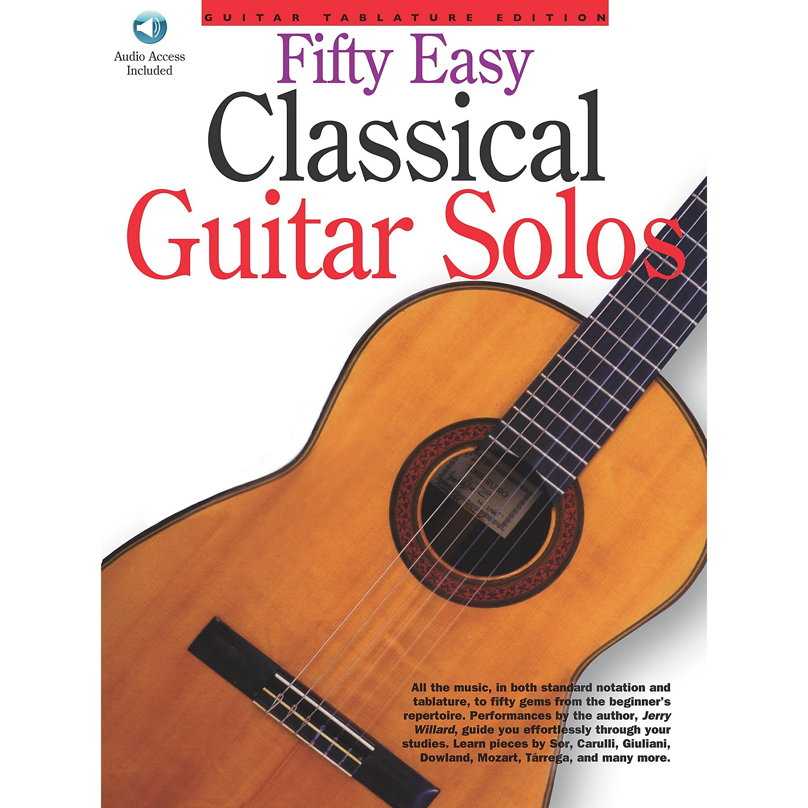 Music Sales 50 Easy Classical Guitar Solos Music Sales America Series Softcover with CD