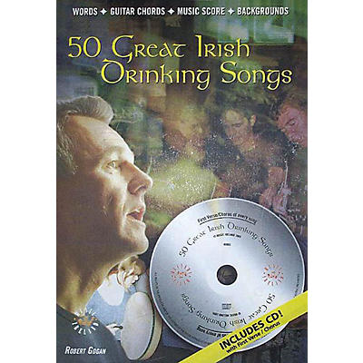 Music Sales 50 Great Irish Drinking Songs Music Sales America Series Softcover with CD