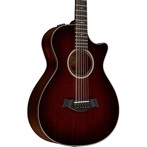 taylor 500 series 562ce grand concert 12 string acoustic electric guitar medium brown stain. Black Bedroom Furniture Sets. Home Design Ideas