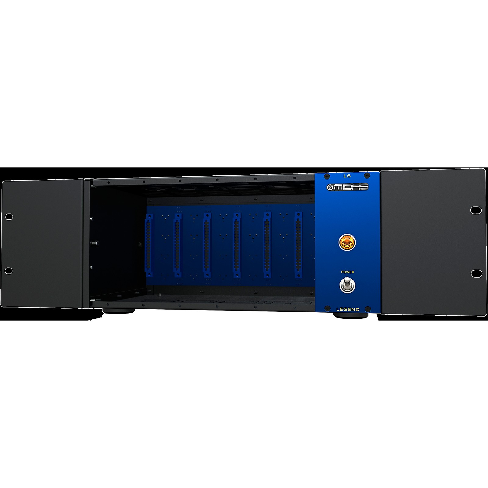 Midas 500 Series Portable Chassis for 6 Modules with Advanced Audio Routing and Rackmount Kit