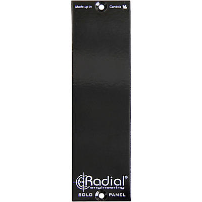 Radial Engineering 500 Series Solo Double-Wide Filler Panel