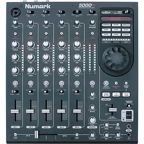 Numark 5000fx 5 channel dj mixer with sampling fx jan m. Shorekers.