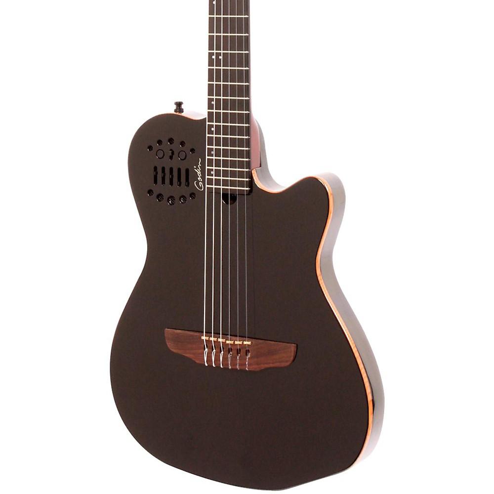 godin acs sa nylon string cedar top acoustic electric guitar black pearl ebay. Black Bedroom Furniture Sets. Home Design Ideas