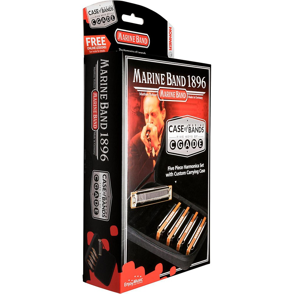 Hohner Case of Marine Bands Harmonica 5-Pack