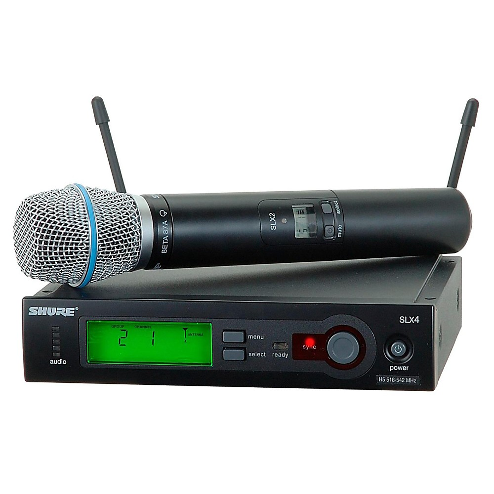 Shure Slx24/Beta87a Wireless Mic Sys Band H19