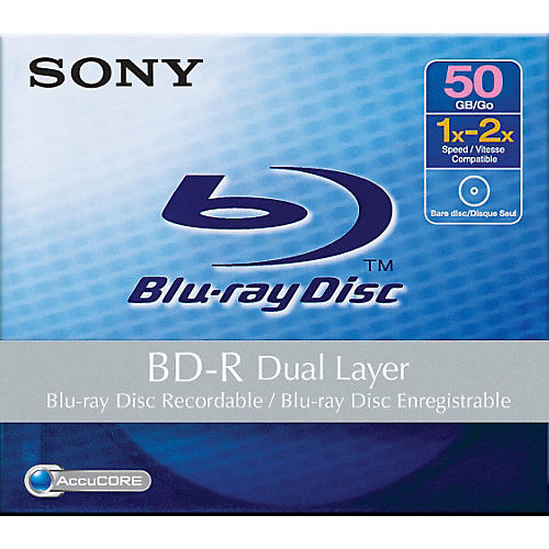 Sony 50GB BD-R Dual Layer Blu-ray Recordable Disc