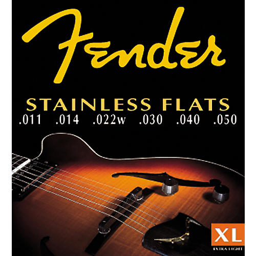 Fender 50XL Stainless Steel Flatwound Guitar Strings