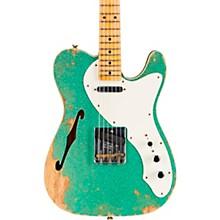 50s Custom Thinline Telecaster Electric Guitar Sea Foam Green Sparkle