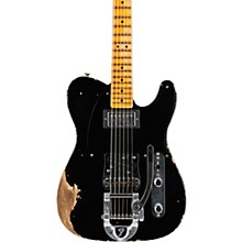 50s Vibra Telecaster Heavy Relic Maple Fingerboard Limited Edition Electric Guitar Aged Black