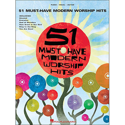 Hal Leonard 51 Must-Have Modern Worship Hits arranged for piano, vocal, and guitar (P/V/G)