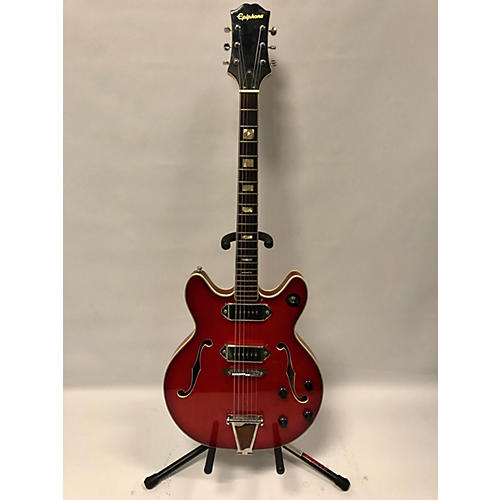 Epiphone 5102T Hollow Body Electric Guitar Chrome Red Metallic