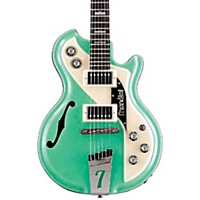 Italia Mondial Classic Semi-Hollow Electric Guitar Green