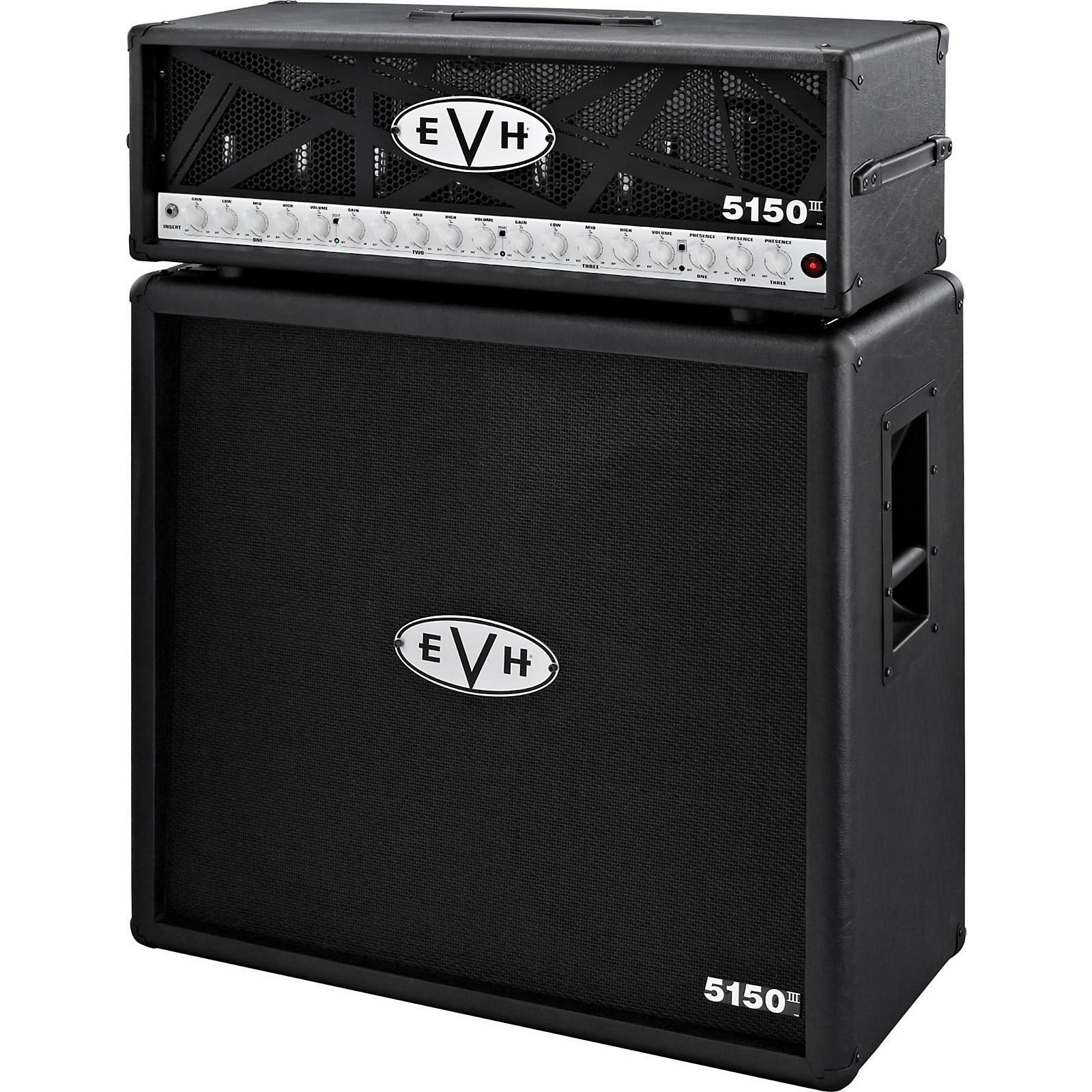 EVH 5150 III 100W Guitar Tube Head Black with 5150 III 412 Guitar Cab Black