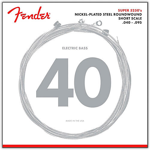 Fender 5250XL Nickel-Plated Steel Short Scale Bass Strings - Extra Light