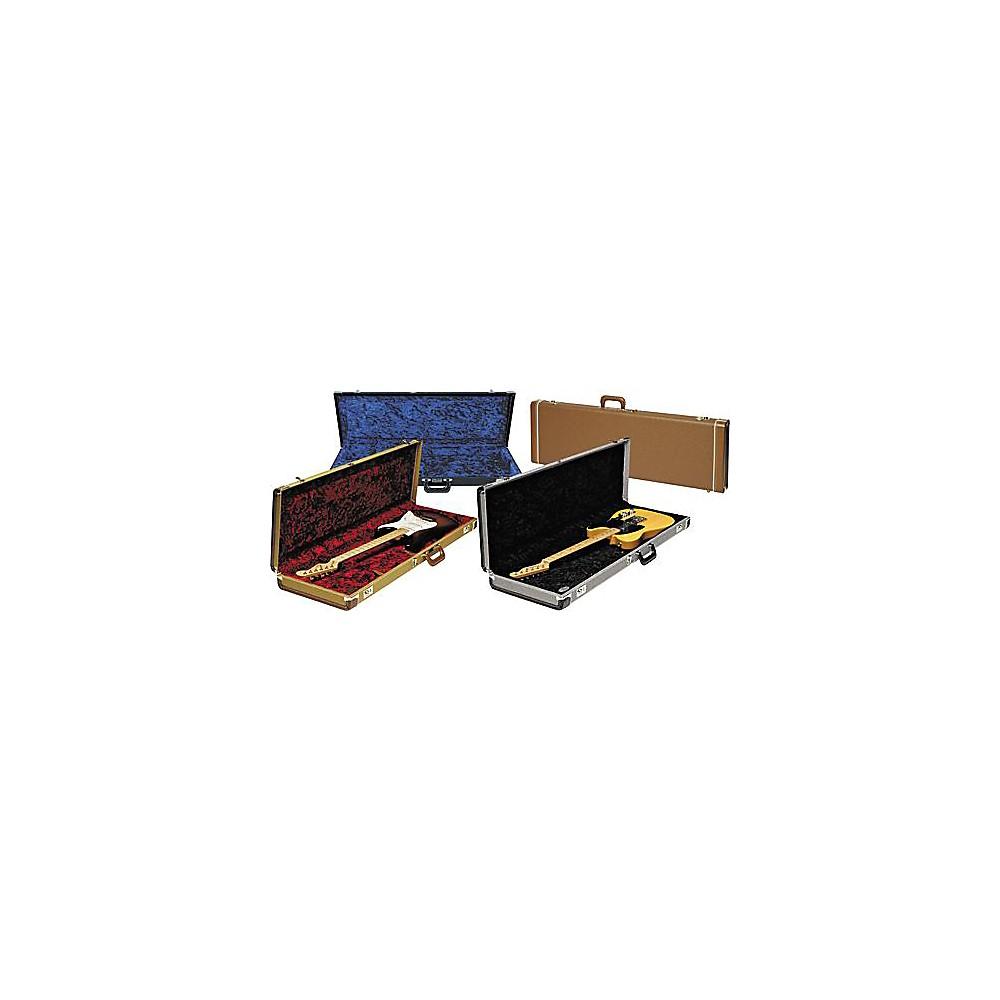 Fender Strat/Tele Hardshell Case Gold Tweed Red Plush Interior -  0996103400