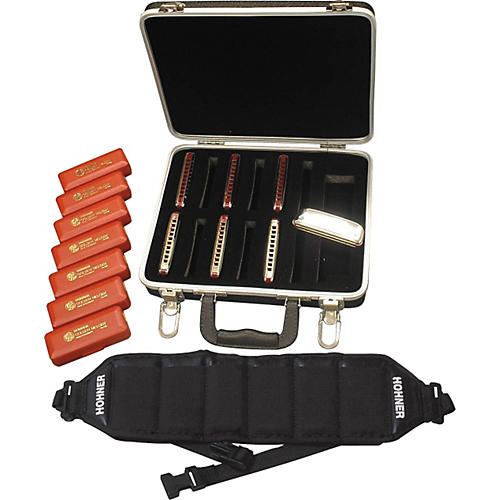 Hohner 542/20 Golden Melody Harmonica Pack with Case and Belt