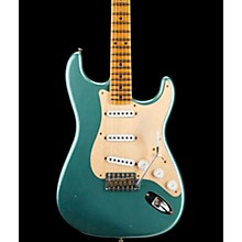 55 Dual-Mag Stratocaster Journeyman Relic Maple Fingerboard Limited Edition Electric Guitar Super Faded Aged Sherwood Green Metallic