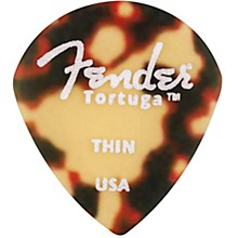 551 Shape Tortuga Ultem Guitar Picks (6-Pack), Tortoise Shell Thin
