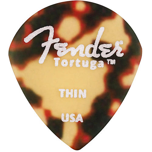 Fender 551 Shape Tortuga Ultem Guitar Picks (6-Pack), Tortoise Shell