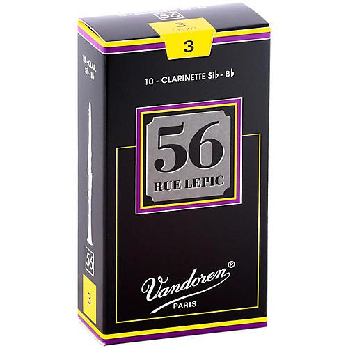 Vandoren 56 rue Lepic Bb Clarinet Reeds Strength 3 Box of 10
