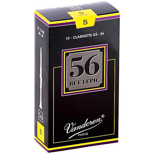 Vandoren 56 rue Lepic Bb Clarinet Reeds Strength 5 Box of 10